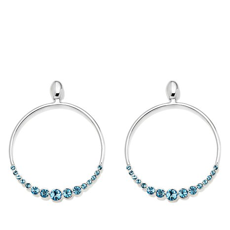 """Lucrezia"" Colored Crystal Circle Drop Earrings"