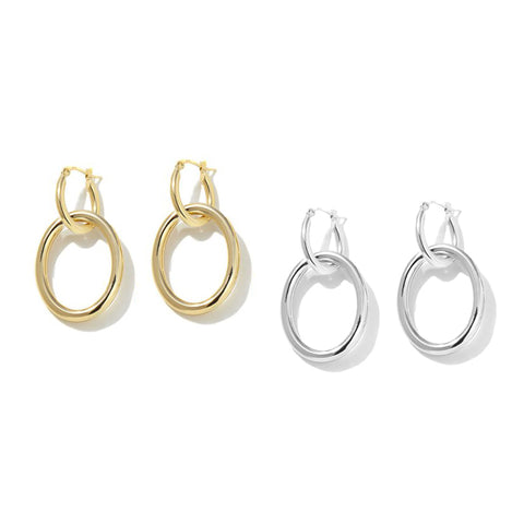 "Roberto by RFM ""Mama"" Convertible Hoop Drop Earrings"