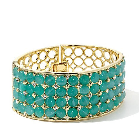 "ROBERTO BY RFM ""CORNELIA"" BRACELET WITH SIMULATED STONES"