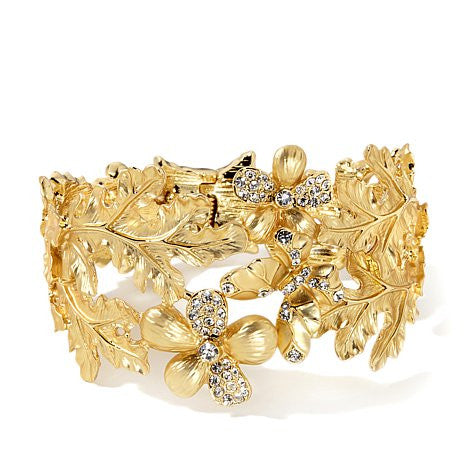 "Roberto by RFM ""Cornelia"" Simulated Cat's Eye Bangle Bracelet"