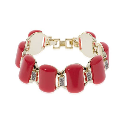 Roberto by RFM Coral bracelet with colored resins and crystals