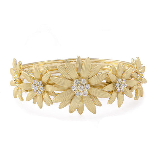 Roberto by RFM Floral rigid bracelet with crystals