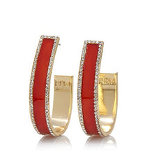 ROBERTO BY RFM Enameled earrings with crystals
