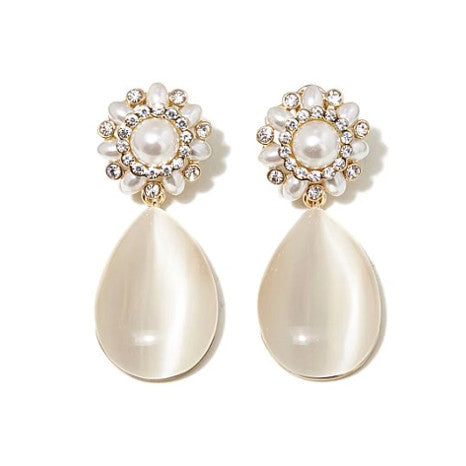 Roberto by RFM Stones and simulated pearls earrings