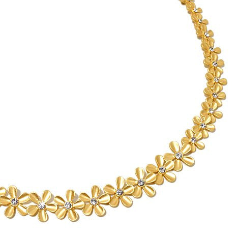 Roberto by RFM Necklace with flowers and crystals motif
