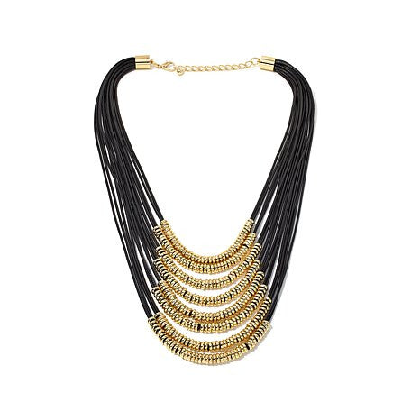 "Roberto by RFM ""Lusso"" Multi-Strand 21"" Cord Necklace"
