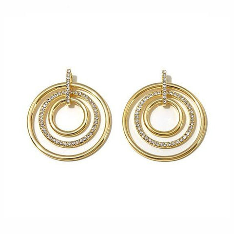 "Roberto by RFM ""Cerchi di Lusso"" Pavé Crystal Multi-Circle Drop Earrings"