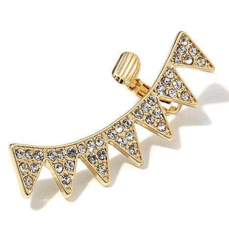 "Roberto by RFM ""Pizzo"" Pavé Crystal Ear Cuff Sunray Earring"