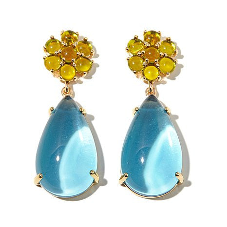 "Roberto by RFM ""Floral Luxury"" Pear-shaped drop earrings"