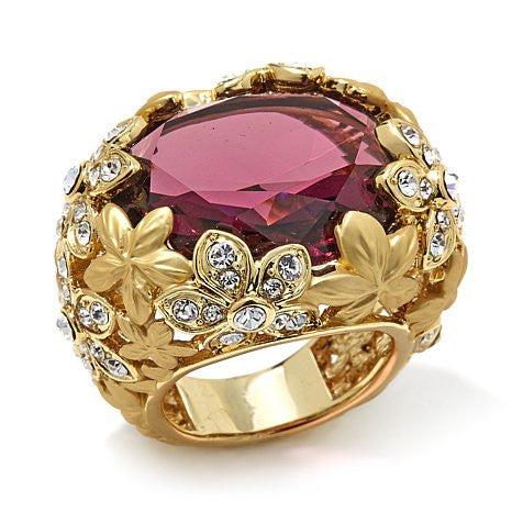 "Roberto by RFM ""Floral Luxury"" Faceted ring"