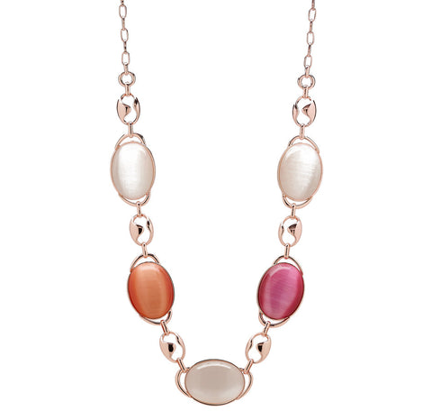 """Livia"" Oval Stone Necklace 31-1/2"""