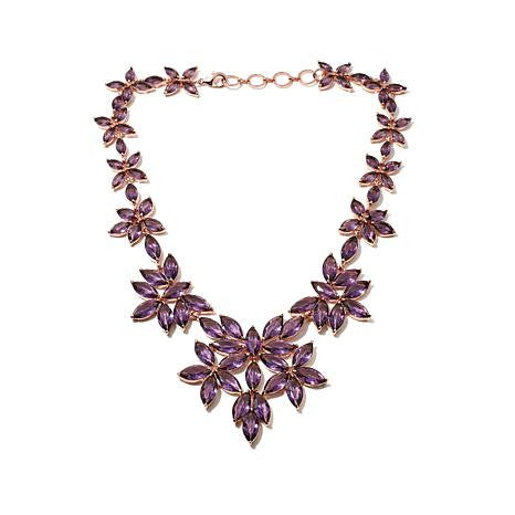 "Roberto by RFM ""Giardinetto"" Faceted Stone 16-1/2"" Floral Necklace"