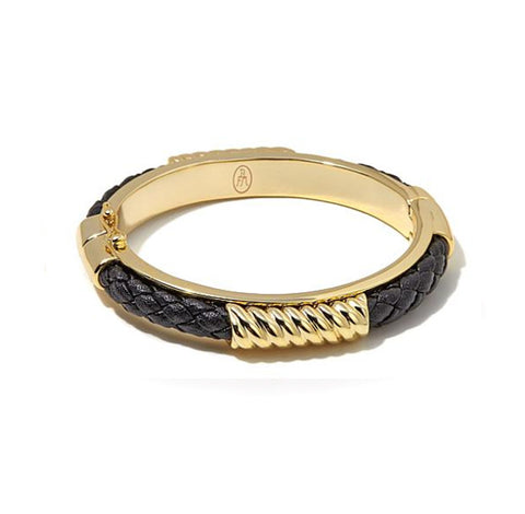 "Roberto by RFM ""Corda del Marinaio"" Corded Hinged Bangle Bracelet"