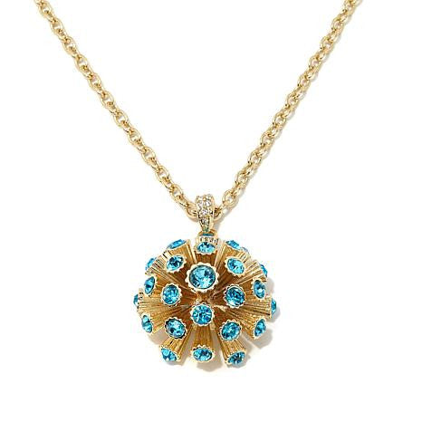 Roberto by RFM Round pendant necklace with crystals