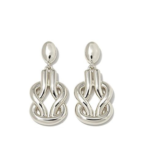 Roberto by RFM Drop earrings with knot design