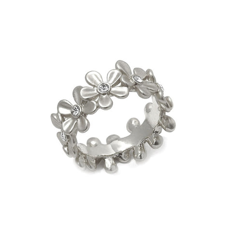 "Roberto by RFM ""Giardino"" Crystal-Accented Floral Band Ring"