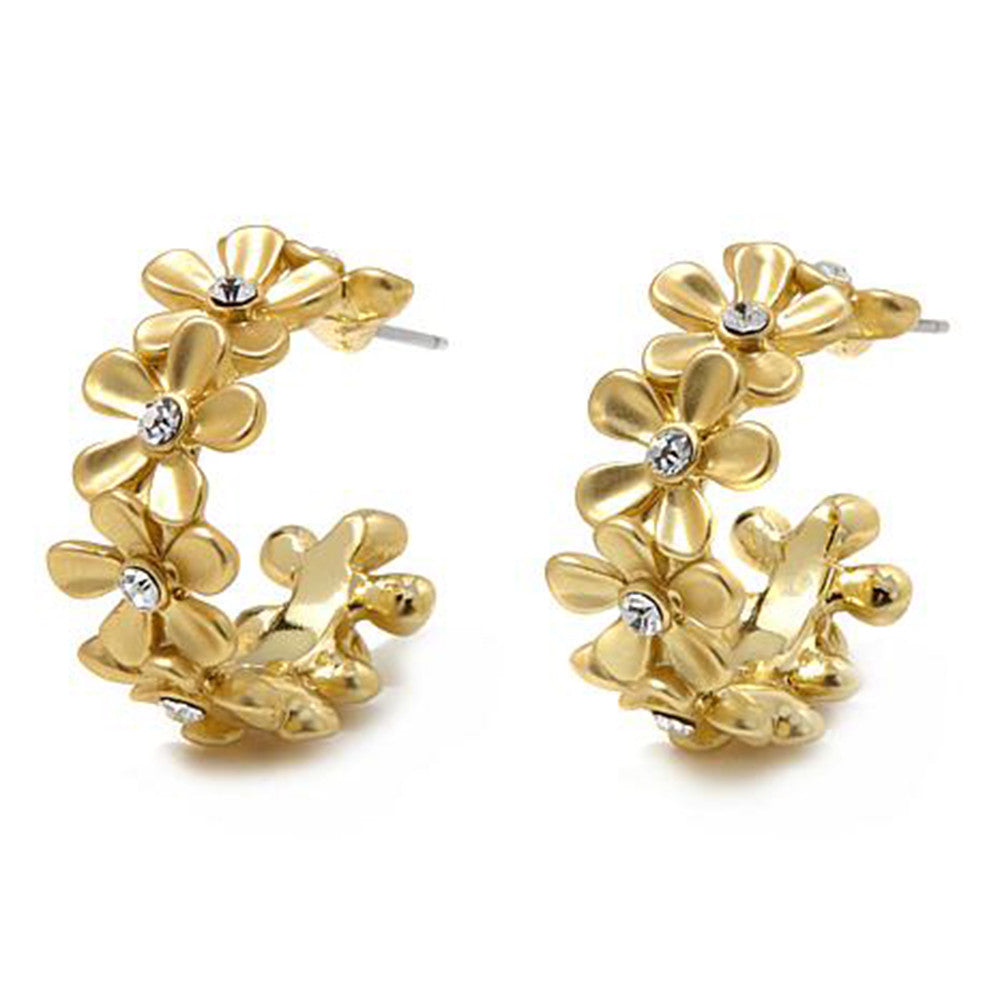 "Roberto by RFM ""Giardino"" Hoop earrings with crystal accents"