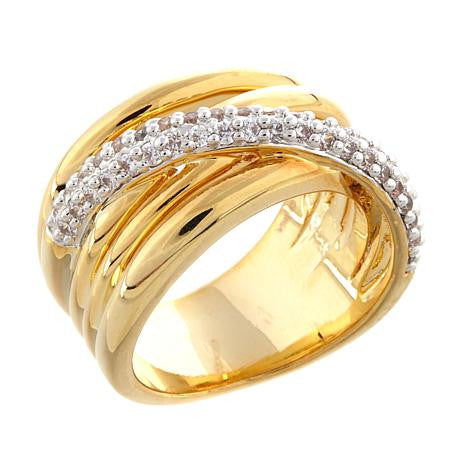 Roberto by RFM Design band ring woven with crystals