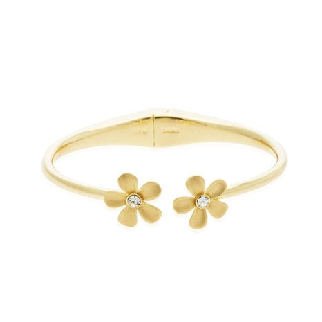Roberto by RFM Rigid bracelet flower elements with crystals