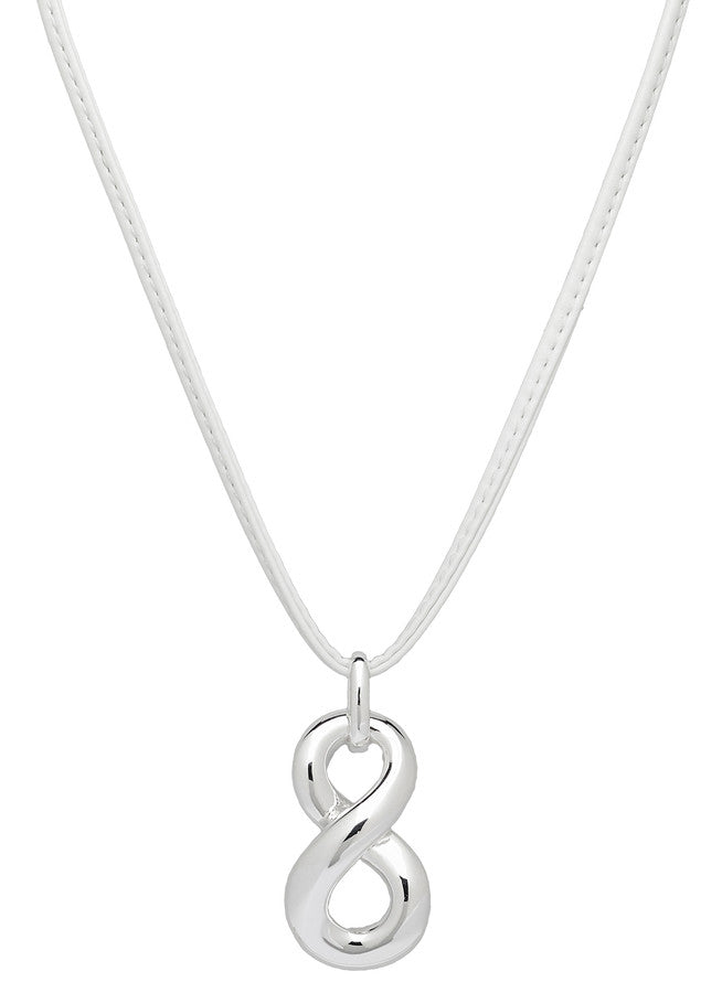 "ROBERTO BY RFM ""CAPRI GIRL"" INFINITO PENDANT WITH LEATHER NECKLACE"