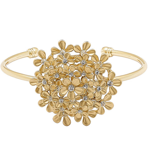 Roberto by RFM Flower ring with enamels and crystals