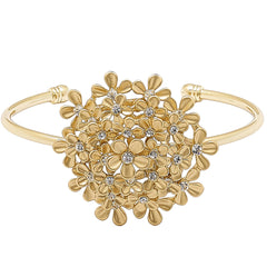 "Roberto by RFM ""Giardino"" Crystal-Accented Goldtone Floral Cluster Cuff Bracelet"