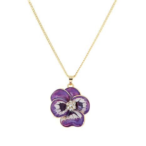 Roberto by RFM Groumette mesh necklace with flower pendant