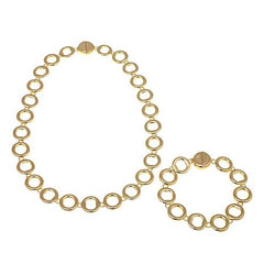 "Roberto by RFM ""Sempre"" Goldtone Convertible Circle Necklace and Bracelet"