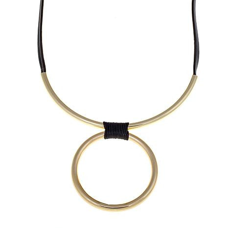 """Di Classe"" Circle Drop Necklace"