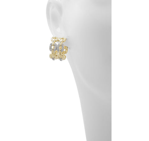 Roberto by RFM - Chain band earrings with crystals