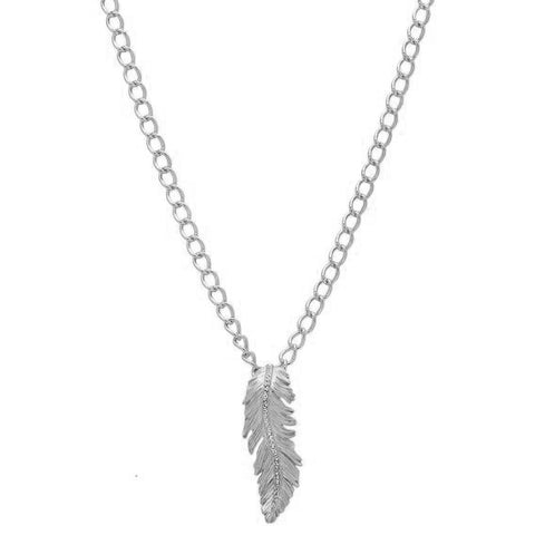 "Cortona Leaf-Design Crystal Pendant with 18"" Chain"