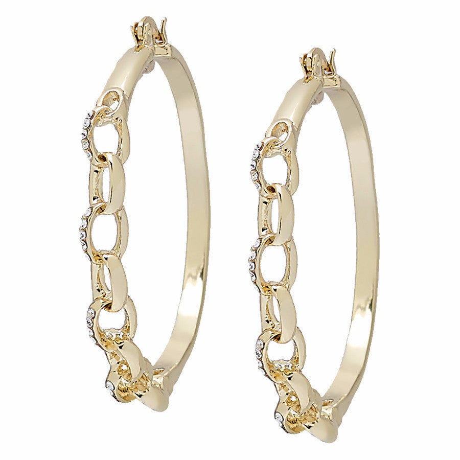 "Roberto by RFM ""Alessandra"" Hoop earrings with crystals"