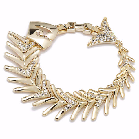 """Alice"" Pave' Crystal Fish Bracelet"