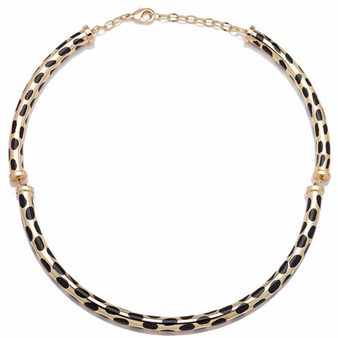 "Roberto by RFM ""Giaguaro"" Animal-Print Goldtone Collar Necklace"