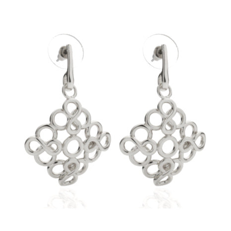 Roberto by RFM - Drop earrings with crossed infinite symbols