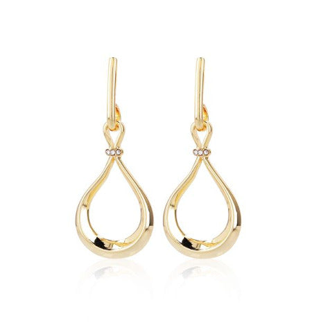 Roberto by RFM Drop earrings with teardrop design and crystals