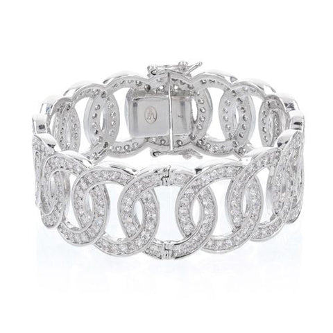 Roberto by RFM Rigid circles bracelet with crystals
