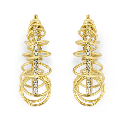 "Roberto by RFM ""Spirale"" Earrings with Pavee Center"