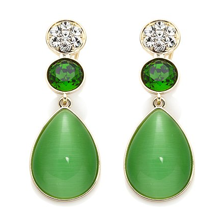"Roberto by RFM ""Una Primavera"" Simulated Cat's Eye Cabochon Earrings"