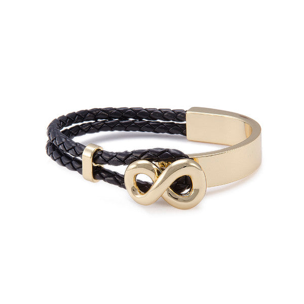 Roberto by RFM Infinito seimirigido bracelet with imitation leather cords