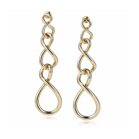 "Roberto by RFM ""Cerchi Infiniti"" Endless Infinity Drop Link Earrings"