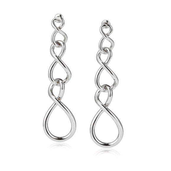 "Roberto by RFM Brass pendant earrings ""Cerchi Infiniti"" collection"