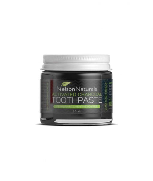 Nelson Naturals Activated Charcoal Toothpaste 60mL - WHOLESALE