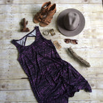Purple Diamond Back Dress
