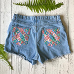 Faded Glory light wash denim cut-offs size 36