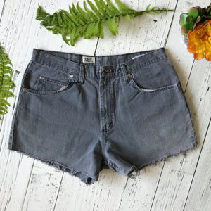 Wrangler grey floral denim cut-offs size 34