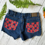 Watermelon denim cut-offs size 36