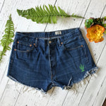 Levi's dark wash cactus denim cut-offs size 36