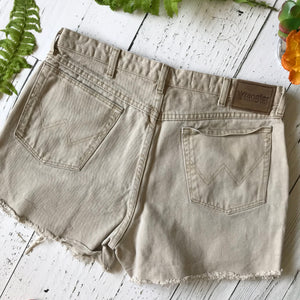 Wrangler sandstone brown denim cut-offs size 36
