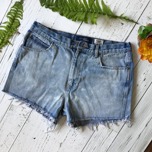 Bleached denim cut-offs size 36